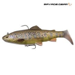 Dark brown rattle trout