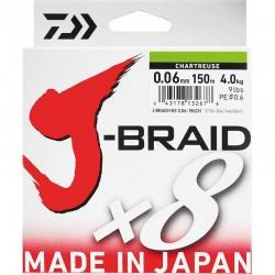 Tresse J-Braid x8 150m Daiwa