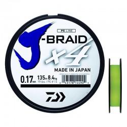 Tresse J-Braid x4 135m Daiwa